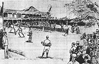 1881 U.S. National Championships (tennis) - Image: First US Tennis Championships, Newport, Rhode Island, in 1881