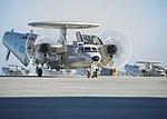 Five E2-D Advanced Hawkeye aircrafts taxi the runway. (32544236571).jpg