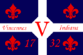 Flag of Vincennes, Indiana.png