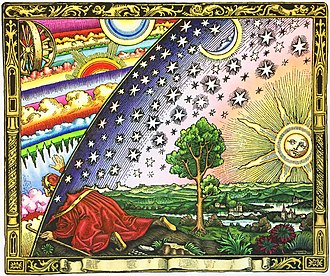 Flammarion engraving - A modern colorized version of the engraving.