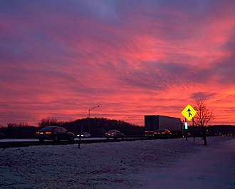 Rockaway Township, New Jersey - Sunset along the highway
