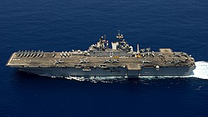 USS Makin Island operating in the Indian Ocean during 2012