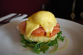 Flickr avlxyz 4140435178--Salmon Benedict on potato cake.jpg
