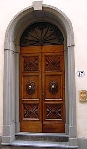 Decorative door in Florence Italy. & Door furniture - Wikipedia