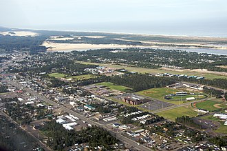 Florence, Oregon - Aerial view of Florence