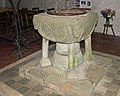Font in St Materiana's Church, Tintagel (5008).jpg