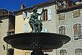 Fontaine sur la place de l'église de Saint-Lizier (Ariège).jpg