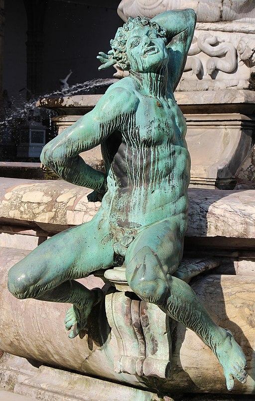 Giambologna e Ammannati, Fontana del Nettuno (dettaglio degli bronzi di Giambologna), Piazza della Signoria, Firenze
