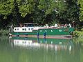 Fontet, Gironde, Canal latéral à la Garonne, la péniche Silène (4).JPG