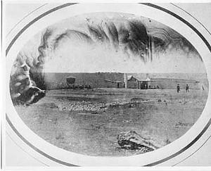 Fort Bridger - Fort Bridger, 1858. By Samuel C. Mills, photographer with the Simpson Expedition. Courtesy Library of Congress.