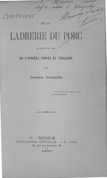 File:Fources - De la ladrerie du porc au point de vue de l'hygiène privée et publique.djvu