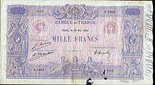 Billets De Banque En Francs Francais Wikipedia