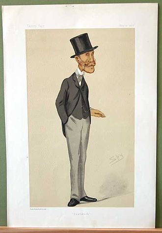 "Marcus Beresford (1818–1890) - ""Southwark"". Caricature by Spy published in Vanity Fair in 1876."