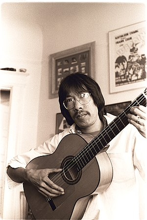 Frank Chin - Frank Chin in San Francisco. Photo by Nancy Wong 1975.