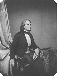 Franz Liszt 1858,Fotografie von Franz Hanfstaengl (Quelle: Wikimedia)