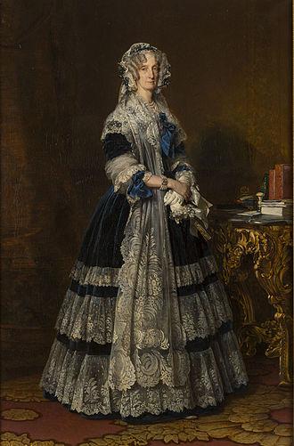 Maria Amalia of Naples and Sicily - Portrait of María Amelia de Borbón-Dos Sicilias, by Franz Xaver Winterhalter (c. 1842).