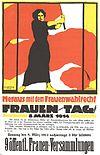 Seba Roja Cinîyan bi almankî yew poster, 8ê Adare 1914