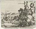 Frederik Hendrik en Christiaan van Anhalt verdrijven de Waalse troepen bij Rekem bij Maastricht, 1610, RP-P-OB-80.618.jpg