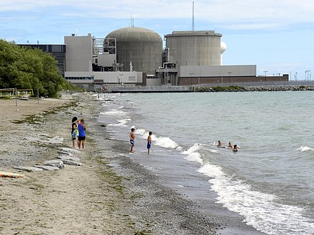 The Pickering Nuclear Generating Station is one of three nuclear power stations in Ontario. Frenchman's Bay and the Pickering Nuclear Plant -a.jpg