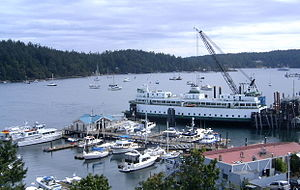 Friday Harbor, Washington - A passenger ferry at Friday Harbor's dock