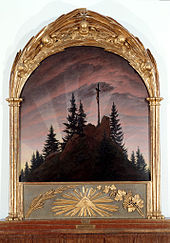 Caspar David Friedrich: Tetschener Altar, 1808 (Quelle: Wikimedia)