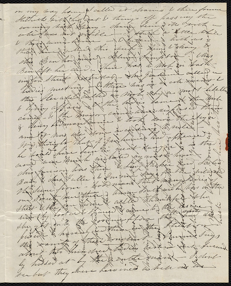 A 19th Century Crossed Letter