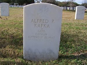 Fort Sam Houston National Cemetery - German POW marker, Knights cross winner