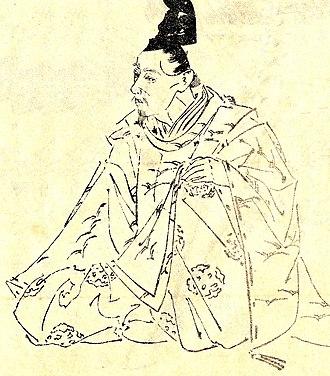 Fujiwara no Ietaka - Fujiwara no Ietaka, drawn by Kikuchi Yōsai.