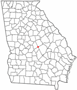 Location of Allentown, Georgia