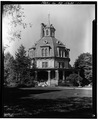 GENERAL VIEW OF EAST ELEVATION - Armour-Stiner House, 45 West Clinton Avenue, Irvington, Westchester County, NY HABS NY,60-IRV,3-10.tif
