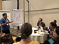 GLAM focus area at the Wikimania 2019 hackathon - sharing expertise from the Met.jpg