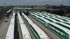 Bombardier BiLevel Coach - Numerous Bilevel coaches layover in Go Transit's Willowbrook yard