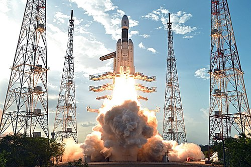 Geosynchronous Satellite Launch Vehicle Mark III is intended as a launch vehicle for crewed missions under the Indian Human Spaceflight Programme announced in Prime Minister Modi's 2018 Independence Day speech. GSLV Mk III Lift Off 1.jpg