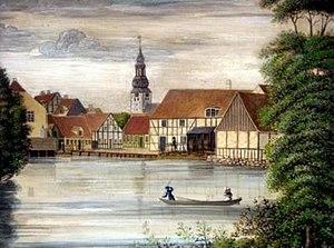 Gammel Mølle malet af vinhandler Bock c. 1830