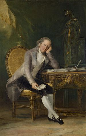 Spanish confiscation - Gaspar Melchor de Jovellanos, portrayed by Goya.