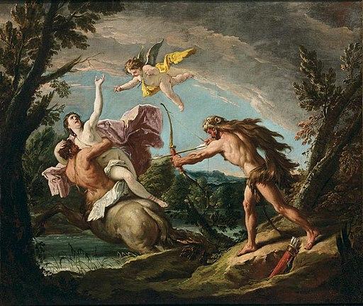 Gaspare Diziani - The Rape of Deianiera