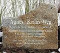 Gedenkstein Agnes-Kraus-Weg (Frife) Agnes Kraus.jpg