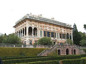 """Albaro - Villa Saluzzo Bombrini, called """"Il Paradiso"""" (""""the Heaven""""), one of the most renowned villas of Albaro"""