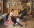 Genre scenes. Conversation at the chest (Batyukov).jpeg