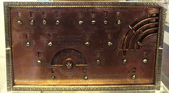 Geomancy - Geomantic instrument, Egypt or Syria, 1241–42 CE, by Muhammad ibn Khutlukh al Mawsuli. When the dials were turned, random designs of dots would appear, which were then interpreted. British Museum.
