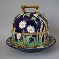 George Jones majolica cheese keep Coloured lead glazes Naturalistic.jpg