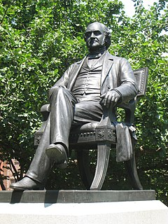 <i>George Peabody</i> (sculpture) bronze statue in Baltimore, Maryland