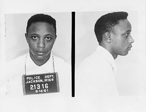 Freedom Riders - George Raymond Jr. was a CORE activist arrested in the Trailways bus terminal in Jackson, Mississippi on August 14, 1961.