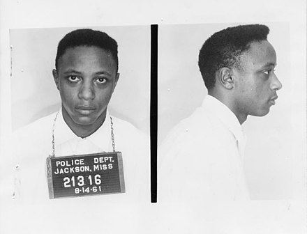 George Raymond Jr. was a CORE activist arrested in the Trailways bus terminal in Jackson, Mississippi on August 14, 1961. George Raymond Mug.jpg