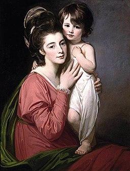 George Romney - Portrait of Mrs Henrietta Morris and Her Son John - WGA20033