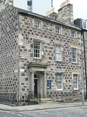 George Square, Edinburgh - A Georgian house at the north-east corner of the square