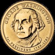 George Washington Presidential $1 Coin obverse