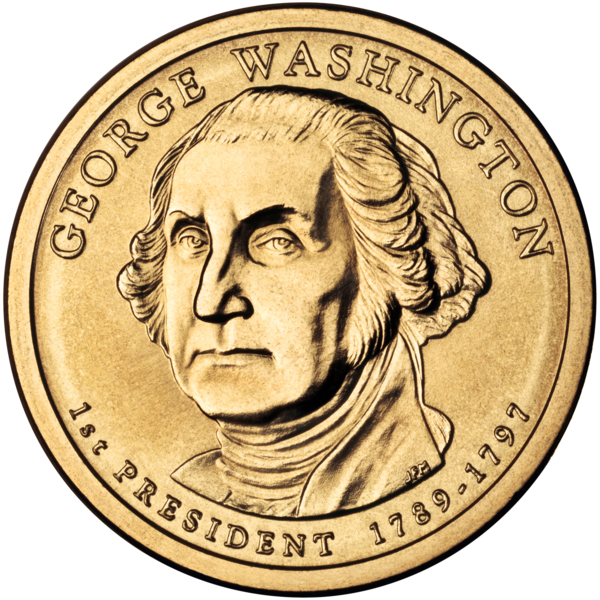 Fichier:George Washington Presidential $1 Coin obverse.png