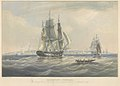 Georgetown, Demerara The Barque Caesar Captn Frans Sims, entering the Harbour, September 1839 RMG PY8493.jpg
