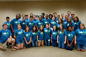Youth empowerment - Youth participating in 4-H, a youth empowerment organization primarily in the United States.